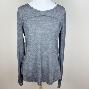 Lululemon On Track Long Sleeve Heathered Black